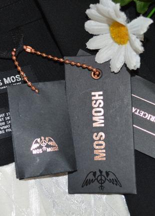 Брендовый черный пиджак жакет блейзер с карманами mos mosh турция вискоза4 фото