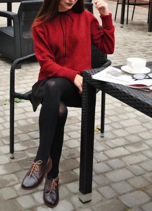 Женский оверсайз свитер укороченный жіночий светр светрик короткий
