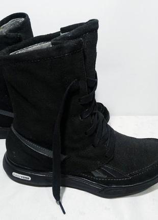Зимние кожаные сапоги,ботинки reebok (рибок), 36-37р,стелька23,5см, отличное состояние