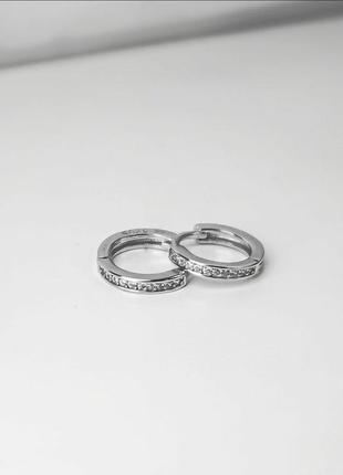 Серьги серебро с камушками