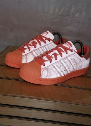 Adidas superstar adicolor sunglow р 38 - 23,5 см кроссовки женские рефлективные