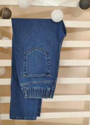 Голубые джинсы мом базовые