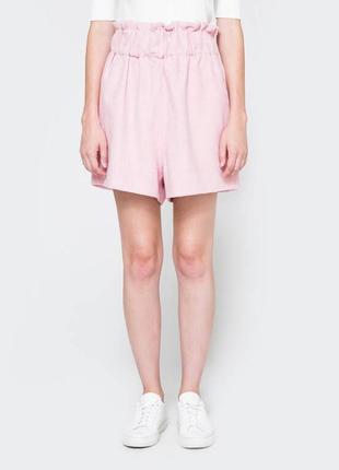 Шорты ganni hawthorne wool shorts peony