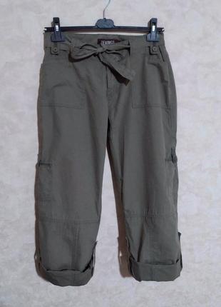 Штаны брюки карго из хлопка, denim co, xl