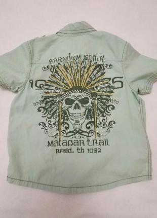 Летняя рубашка с принтом