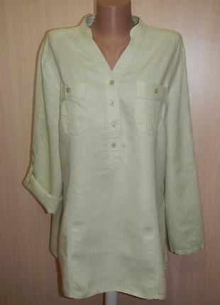 Льняная блуза tu p.16