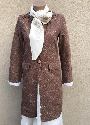 Кардиган,тренч,жакет удлиненный,пиджак,легкое пальто,плащ,вискоза + хлопок, италия