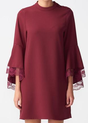 Красное!вечернее платье с воланами новое с биркой р 6-8
