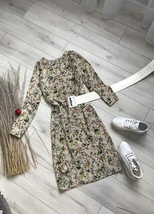 Платье миди в принт нюдове платья миди