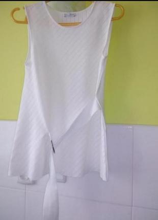 Белый топ блуза футболка zara