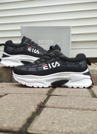 Кроссовочки black в стиле fіlа