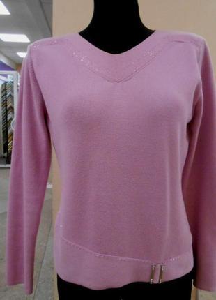 Кофта rsvp пуловер кофточка джемпер свитер теплый розовая хлопковая размер 40