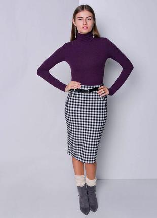 Базовый гольф водолазка p&c peek свитер лонгслив фирменный 100% хлопковый фиолетовый р. 40