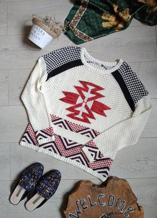 Легкий свитер кофта в принт
