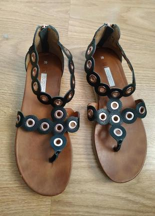 Черные сандалии bugatti 39 размер
