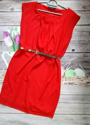 Мега стильное платье красное