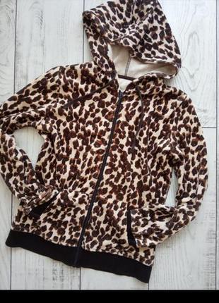 Худи кофта с капюшоном тигровый принт
