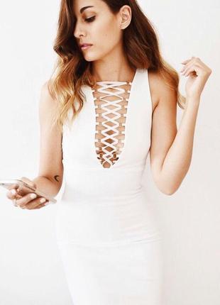 Платье на шнуровке topshop  p.m