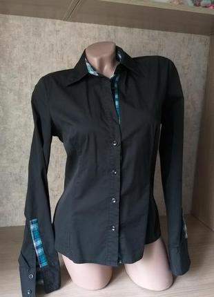 Хлопковая рубашка с оригинальной отделкой