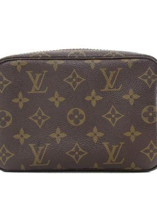 Косметичка сумка винтажная коричневая с принтом монте карло оригинал louis vuitton