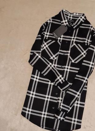 Новая рубашка хлопок в клетку размер 8 brave soul