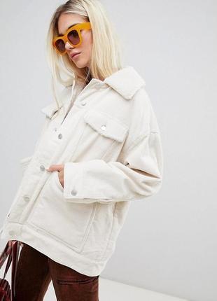 Шерпа белая,вельветовая курточка,куртка в рубчик,джинсовка