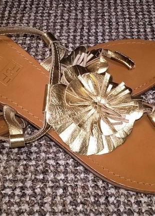 Босоножки сандалии f&f натуральная кожа. размер 38