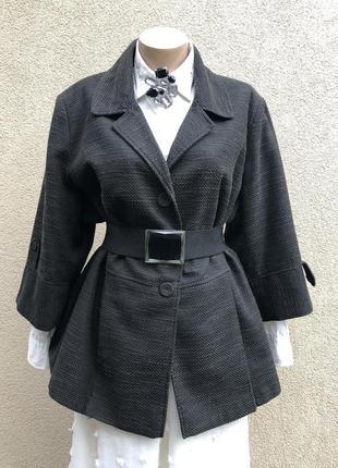Жакет,пиджак,куртка-пальто короткое,фактурное,большой размер, хлопок