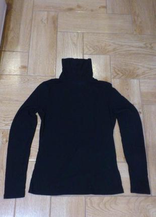 Гольф женский черный в рубчик h&m ribbed turtleneck top жіночий чорний водолазка лонгслив