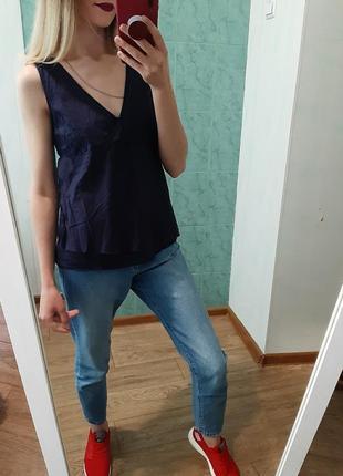 Легенькая хлопковая блуза, рубашка от massimo dutti