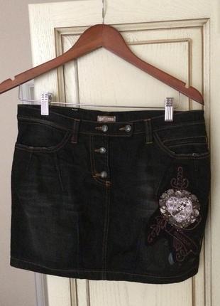 Нова.джинсова спідничка міні john galliano оригінальна