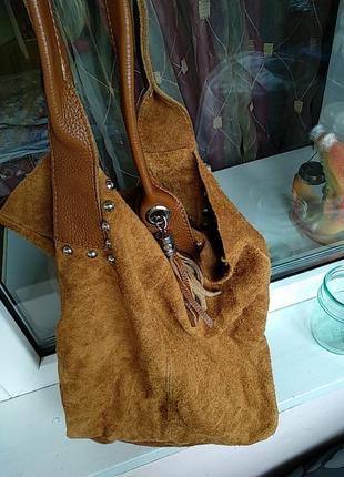 Замшевая сумка5 фото