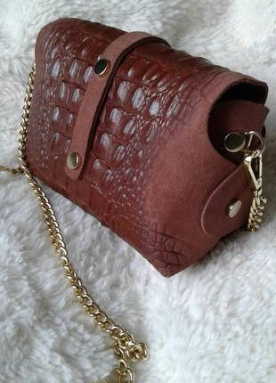 Женская кожаная сумочка италия