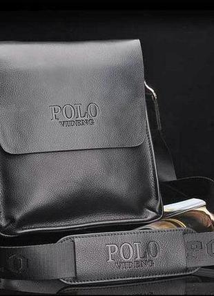 Качественная мужская сумка через плечо polo videng, поло