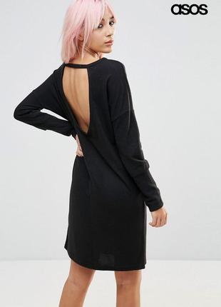 Оверсайз платье с вырезом на спине asos