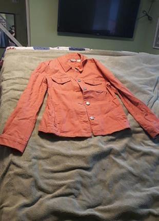 Куртка джинс помаранчева р.38 євр