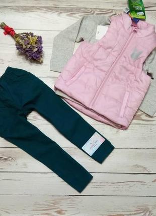 Набір для дівчинки (жилетка, котонові штани та кофтинка).