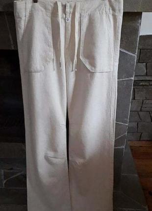 Супер брюки унисекс. 50-52р голландия. лен.