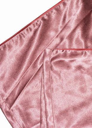 Новые широкие атласные штаны в пижамном стиле boohoo9 фото