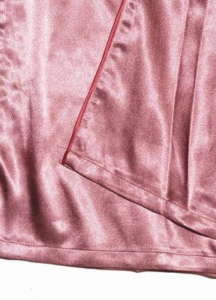 Новые широкие атласные штаны в пижамном стиле boohoo10 фото