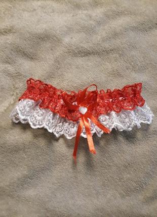 Підвязка червона нареченій