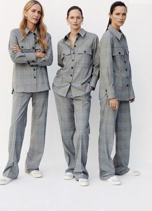 Новые штаны в клетку, широкие 36/с. от mango