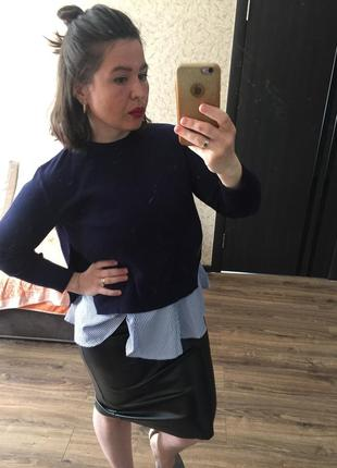 Очаровательный стильный комплект кофта   блузка{безрукавка}