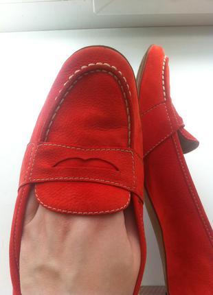Туфли лоферы красные натур.кожа brunate italia
