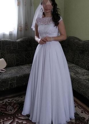 Лёгкая нежное свадебное платье