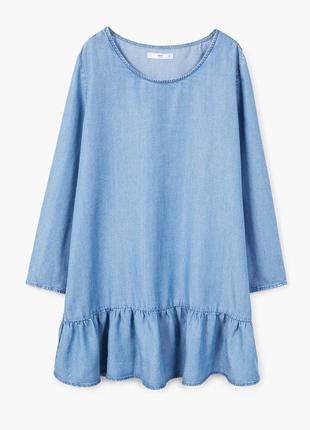Натуральное платье прямого свободного кроя из лиоцелла по типу тонкого джинса