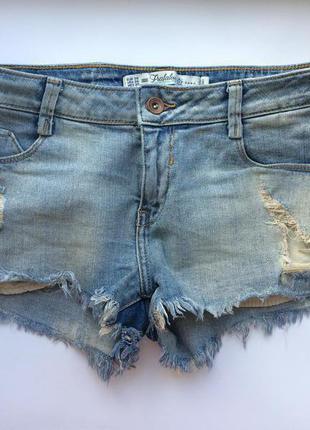 Джинсові шорти zara trafaluc, 38рр,s рр, шорты джинсовые, зара, нові