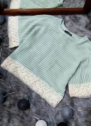 Стильная ажурная блуза топ кофточка atmosphere