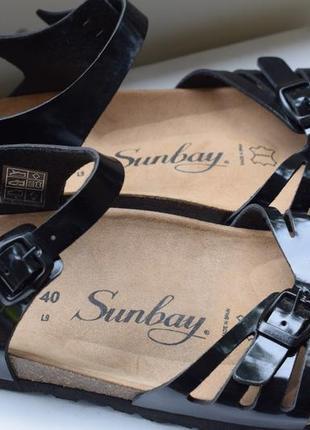 Ортопедические босоножки сандали испания sunbay р.40 26 см шлепанцы шлепки