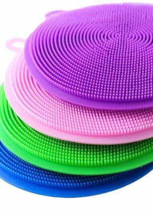 Набор 4 штуки силиконовая губка щётка для мытья посуды